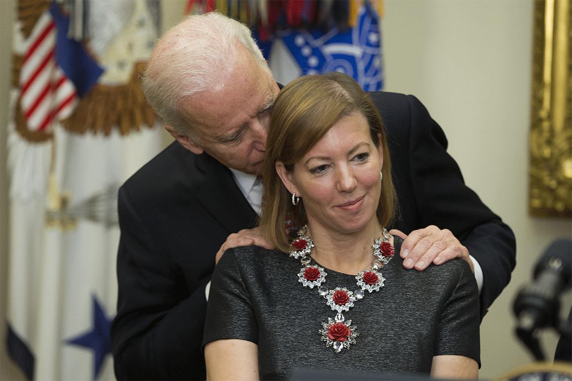 Joe Biden Behind Woman Political meme template blank