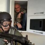 Guy Hiding in Cupboard  meme template blank