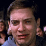 crying peter parker meme template blank spiderman