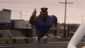 Black Cop / Officer Earl Running (blank) vs meme template