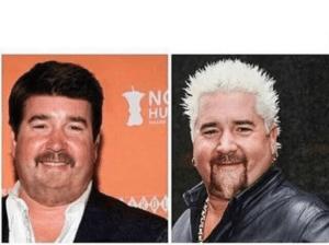 Normal Guy Fieri vs. Guy Fieri Food meme template