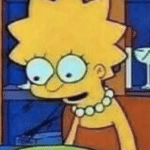 Lisa Simpson tired / exhausted  meme template blank