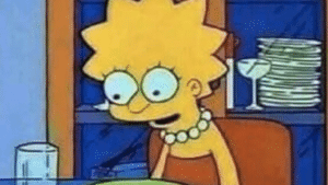 Lisa Simpson tired / exhausted Simpsons meme template
