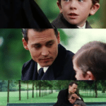 Crying Kid + Johnny Depp  meme template blank