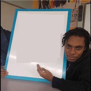 Black Guy Holding Sign Holding Sign meme template