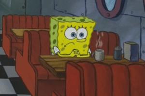 Spongebob Diner Sad meme template