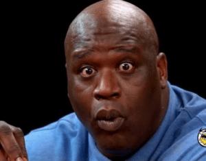 Shaq Surprised Face meme template