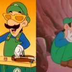 Luigi Happy Then Sad Gaming meme template