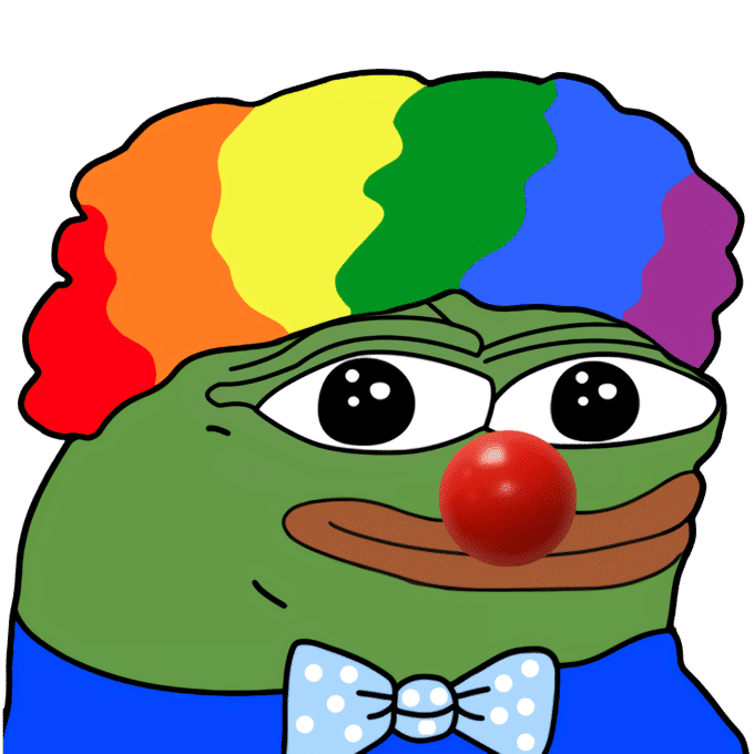 Clown Pepe / Clown World / Clown Town  meme template blank