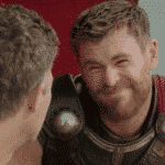Thor Squinting Face  meme template blank