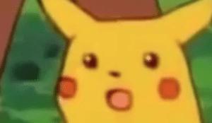 Surprised Pikachu  Surprised meme template