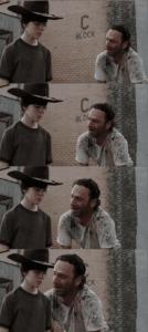 Crying Rick Grimes Long Walking meme template