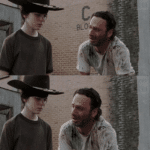crying rick grimes and son long meme template blank dad joke the walking dead