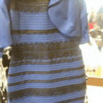 White and Gold Dress  meme template blank