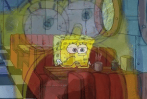Spongebob Diner Anxiety Sad meme template