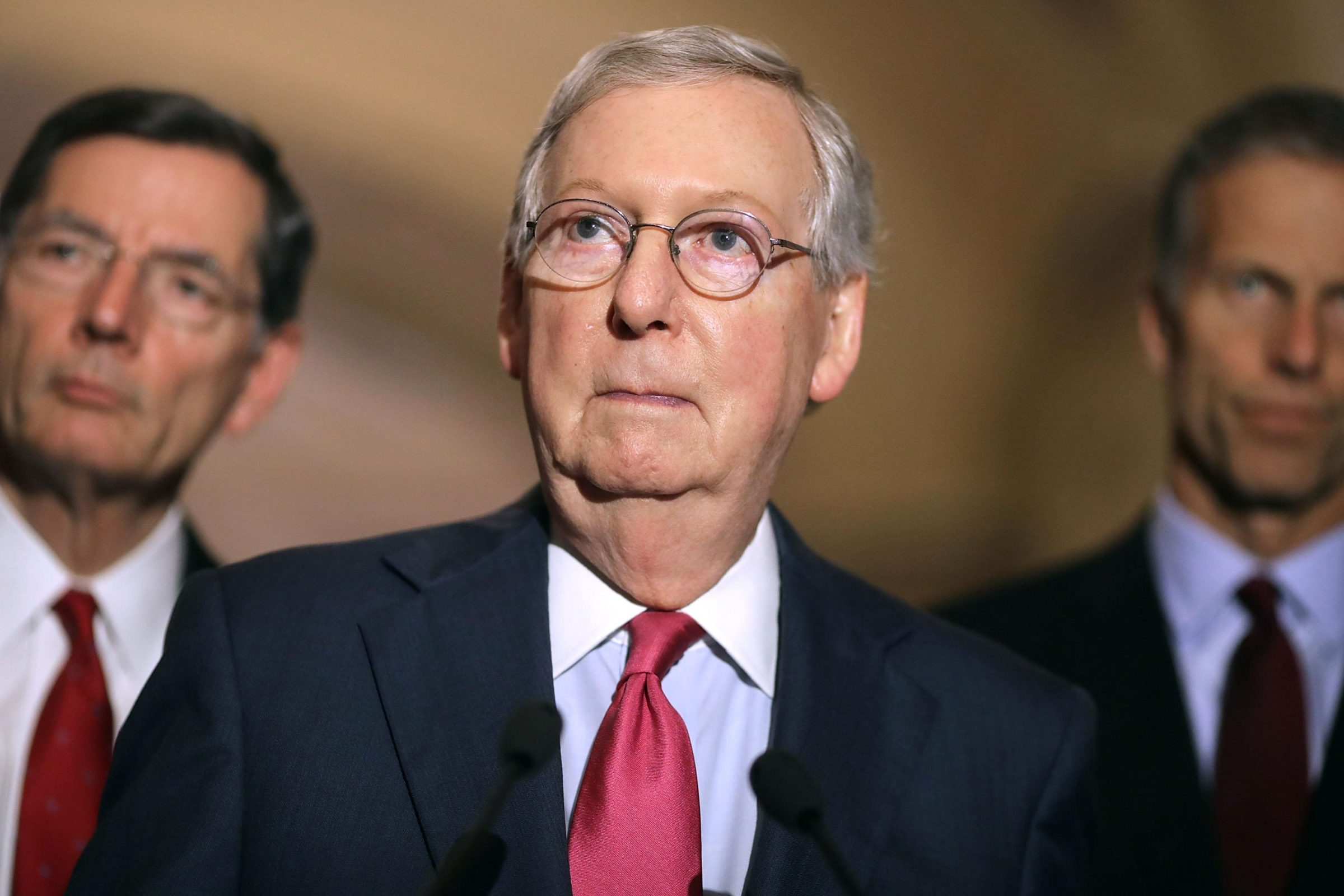 Mitch McConnell surprised Political meme template blank