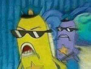 Spongebob Police / Cops Radial Blur meme template