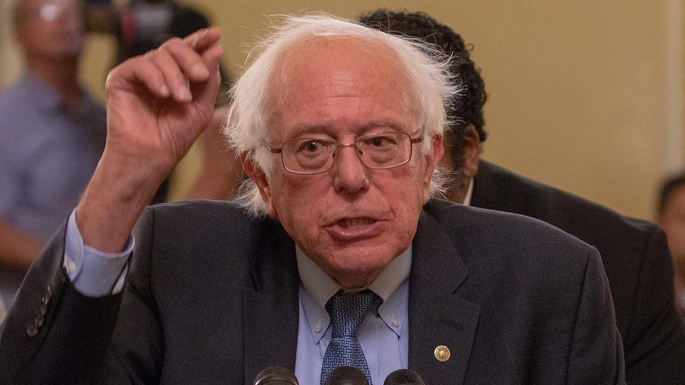 Bernie Sanders Speaking Political meme template blank