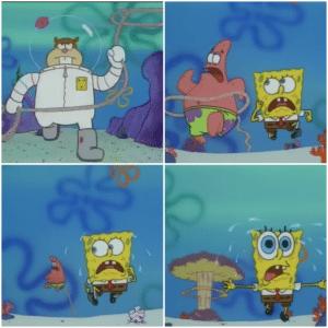 Spongebob Sandy Lasso Patrick Patrick meme template