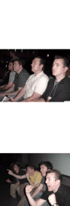 Four Guys Reacting template Excited meme template