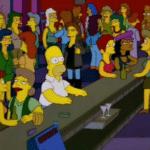 Homer in Bar Simpsons meme template