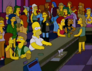Homer in Bar April 2020 meme template