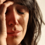 white woman crying first world problems classic meme template blank