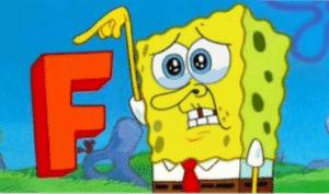 Spongebob Holding F Dying meme template