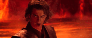 "Anakin ""You underestimate my power"" Star Wars meme template"