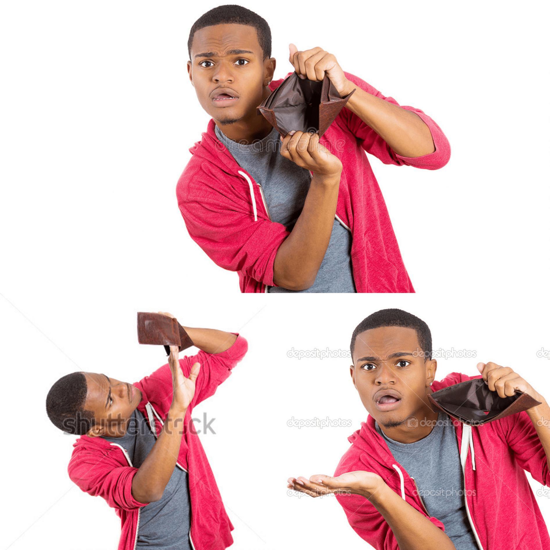 Meme Generator - Black Guy Empty Wallet - Newfa Stuff