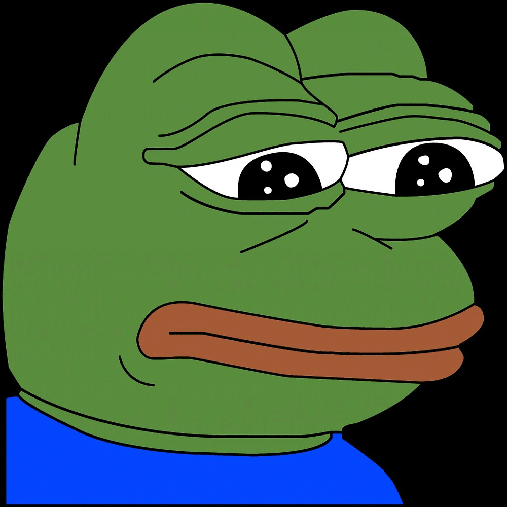 Sad Pepe the Frog  meme template blank