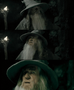 Confused Gandalf LOTR meme template
