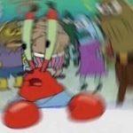 Mr. Krabs Confused Spongebob meme template blank