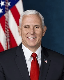Mike Pence Happy / Portrait Political meme template