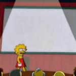 Lisa Simpson's Presentation (blank)  meme template blank