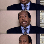 The Office Stanley Reactions  meme template blank The Office