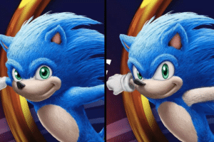 Old vs. new Sonic (Ians Edits) Sonic meme template