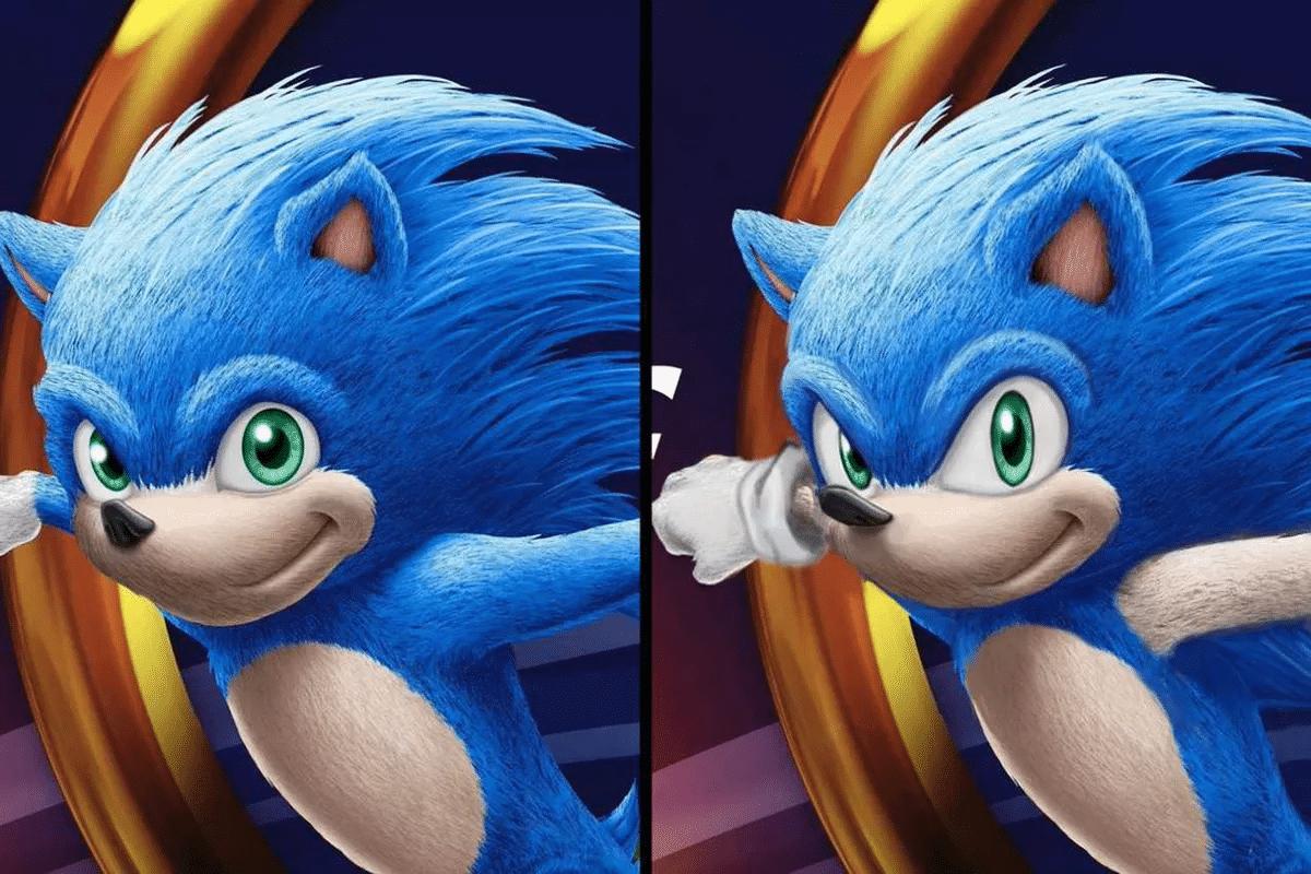 Old vs. new Sonic (Ians Edits)  meme template blank