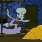 Meme Generator - Squidward Leaping Out of Bed - Newfa Stuff