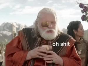 Thor / Odin 'oh shit' Marvel meme template