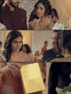 Indian girl showing note Holding Sign meme template