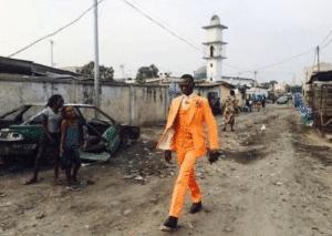 Black Man in Fancy Orange Suit Black Twitter meme template