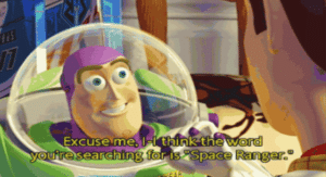 Buzz Lightyear 'Excuse me…' Pixar meme template