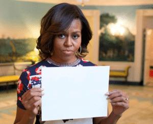 Michelle Obama Holding Sign Obama meme template