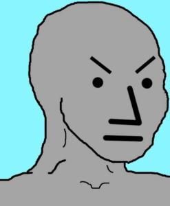 Angry NPC Opinion meme template