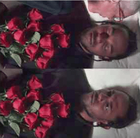 Black Guy at Funeral Waking Up Dying meme template