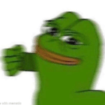 Pepe the Frog Punching you  meme template blank