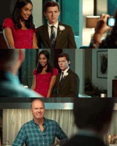 Peter Parker Meeting Dad Spiderman meme template