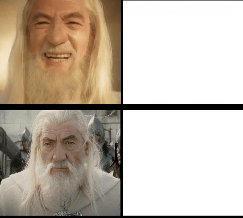Gandalf Drake Meme  meme template blank Lord of the Rings