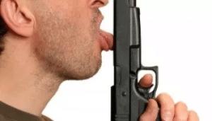 Licking Gun Gun meme template
